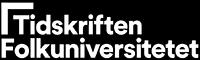 Tidskriften Folkuniversitet logo vit