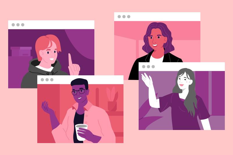 Kroppsspråk under videomötet